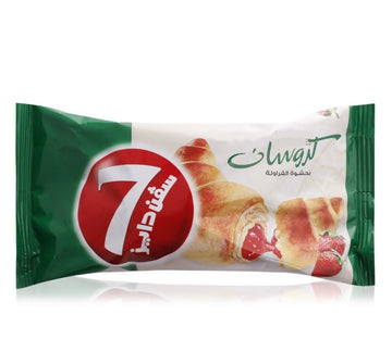 7 Days Croissant with Strawberry Filling - 55 g