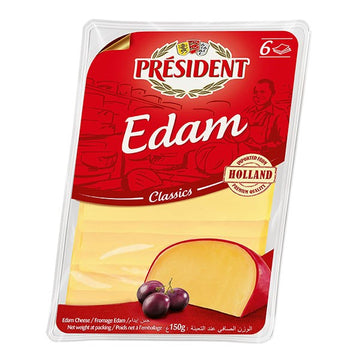 President Classic Edam Cheese Slices - 150 g