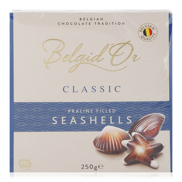 Belgid'Or Classic Praline Filled Sea Shells Chocolate - 250 gm