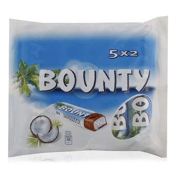 Bounty Milk Chocolate Bars - 5 x 57 g