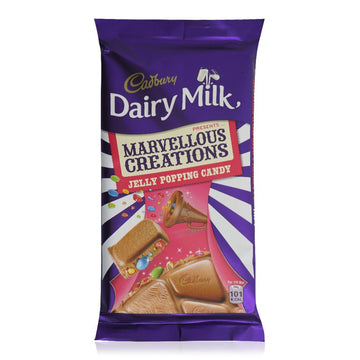 Cadbury Dairy Milk Marvelous Creations Jelly Popping Candy Bar - 160 g