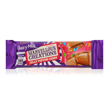 Cadbury Dairy Milk Marvelous Creations Jelly Popping Candy Bar - 38 g