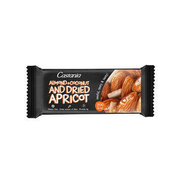 Castania Almonds & coconuts and dried apricot Bar - 38 g