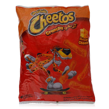 Cheetos Crunchy Cheese Twisted Corn Puffs - 16 x 25 g