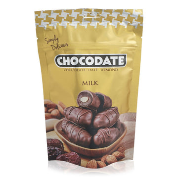 Chocodate Chocolate Date Almond Milk Chocolate, 100 g