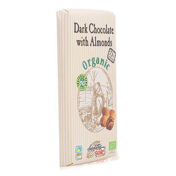 Chocolate Sole Organic 73% Cocoa Dark Chocolate with Almond - 150 g