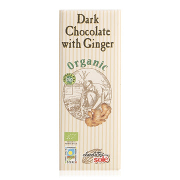 Chocolate Sole Organic Dark Chocolate with Ginger - 25 g