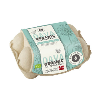 Dava Medium/Large Organic Free Range Eggs - 6's