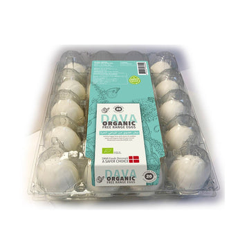 Dava Medium Organic Free Range Eggs - 20's