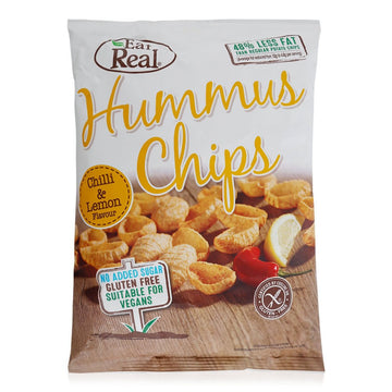 Eat Real Chili & Lemon Flavor Hummus Chips - 135 g