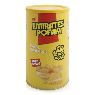 Emirates Pofaki Cheese Coated Crispy Corns Curls - 65 g