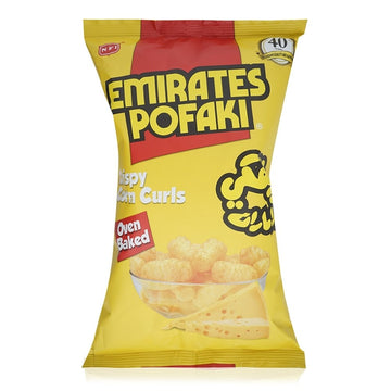 Emirates Pofaki Cheese Flavor Crispy Corn Curls - 80 g