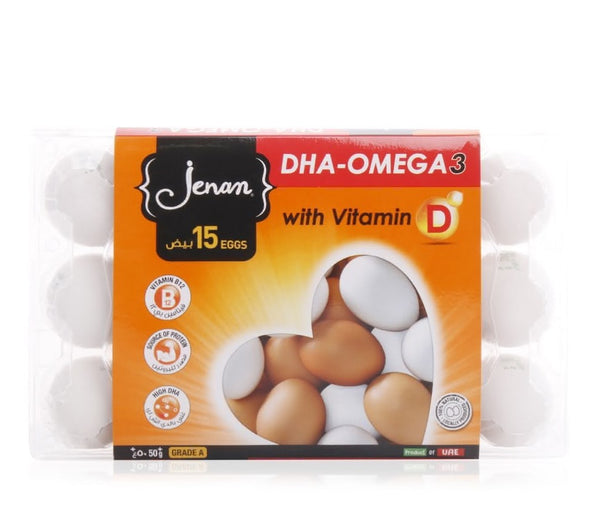 Jenan Omega 3 with Vitamin-D Eggs - 15 Pieces