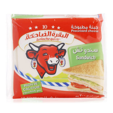 Lavache Quirit Slice Sandwich Cheese - 200 g , 10 Pieces