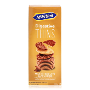 Mc Vitie's Digestive Thins Milk Chocolate Cappuccino Biscuits - 150 g
