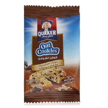 Quaker Oat Cookies Chocolate Chips , Lunch box size - 9 g