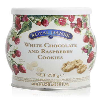 Royal Dansk White Chocolate and Raspberry Cookies - 250 g
