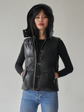 Load image into Gallery viewer, Iris Leather Puffer Vest
