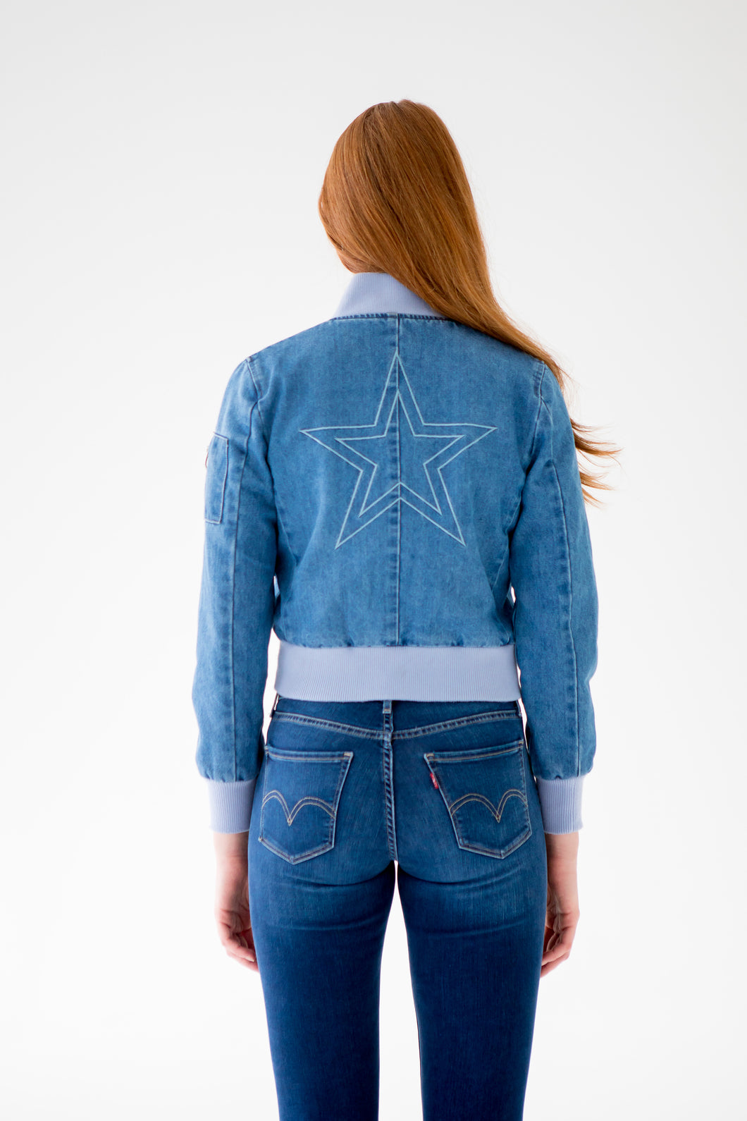 Denim Star Bomber