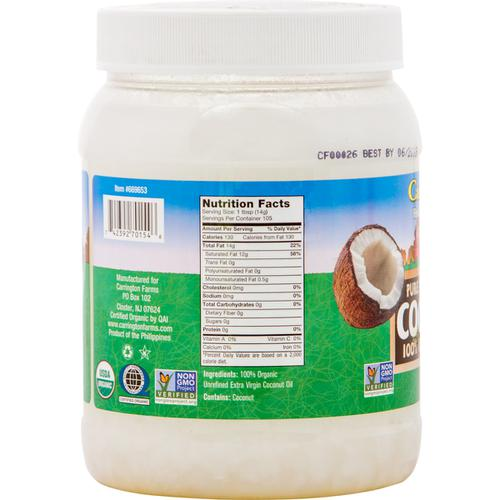 Carrington Farms Aceite de Coco Orgánico (1.6L) - encaja.club