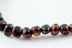 Adult Amber Necklace in Polished Cherry