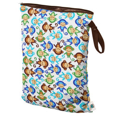 Planet Wise Large Wet Bag with Strap in Monkey Fun