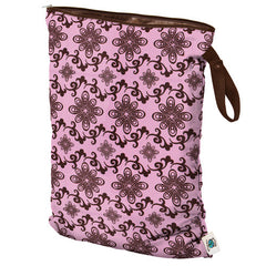 Planet Wise Large Wet Bag with Strap in Pink Swirl