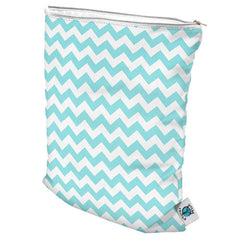 Planet Wise Medium Wet Bag in Teal Chevron
