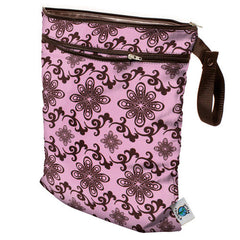 Planet Wise Wet/Dry Bag with Strap Pink Swirl