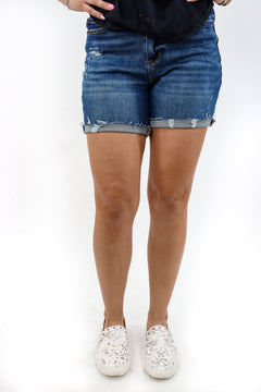 Just Be Cool High Rise Judy Blue Shorts