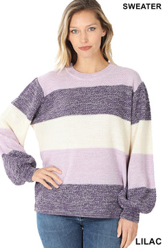 Devoted To You Lilac Sweater