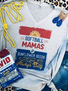 Marble V-Neck Softball Mamas Tee