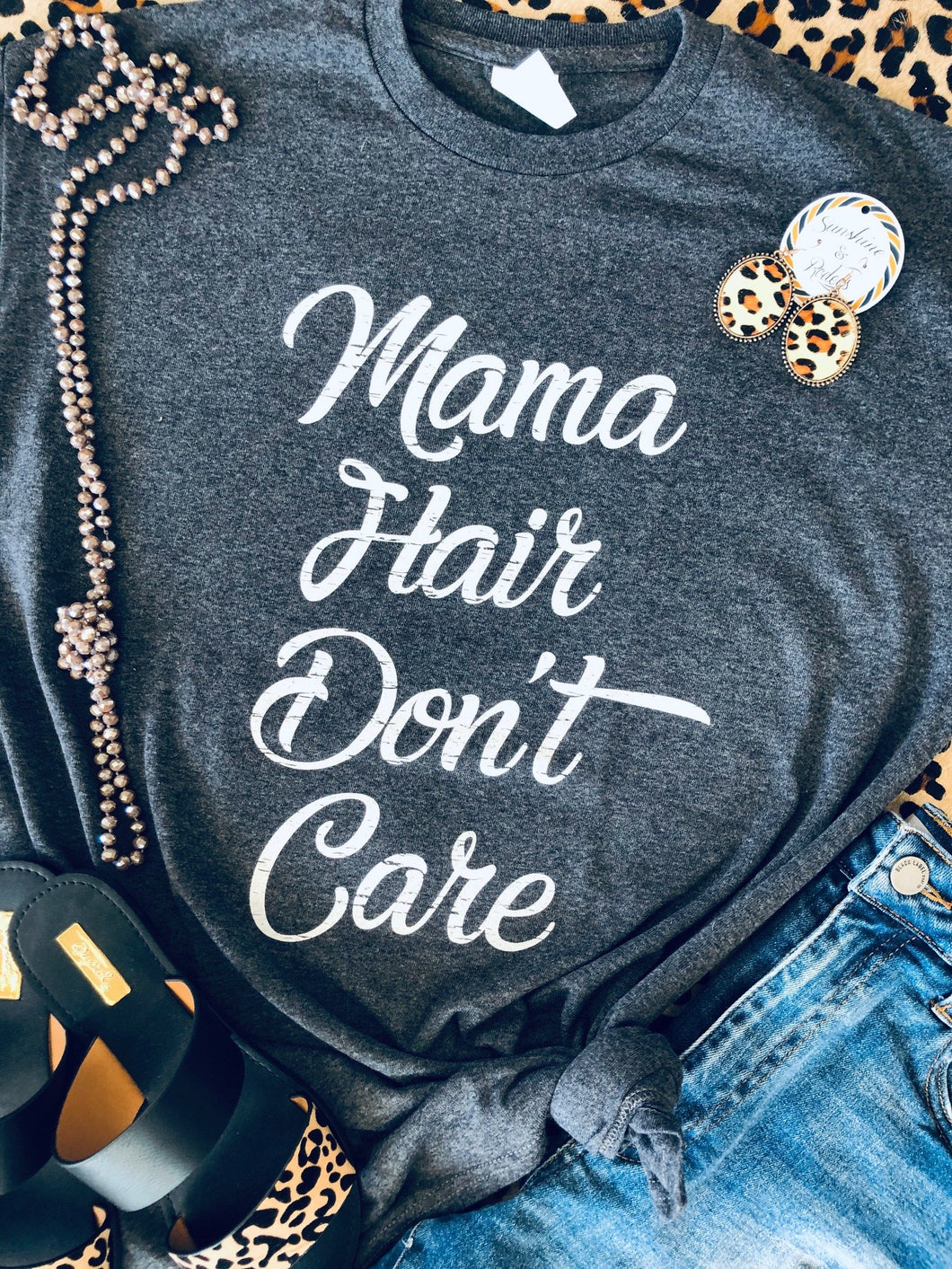 Mama Hair Dont Care Tee