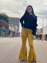 Load image into Gallery viewer, Mustard Fringe Pants