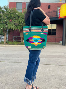 Green Aztec Bag