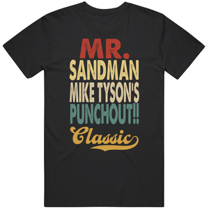 Mr Sandman Punchout Classic Boxing Retro Video Game T Shirt