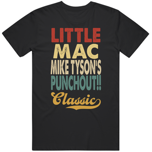 Little Mac Mike Tyson's Punchout Classic Boxing Retro Video Game T Shirt