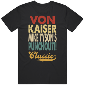 Von Kaiser Punchout Classic Boxing Retro Video Game T Shirt