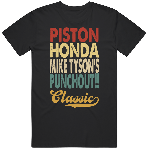 Piston Honda Mike Tyson's Punchout Classic Boxing Retro Video Game T Shirt