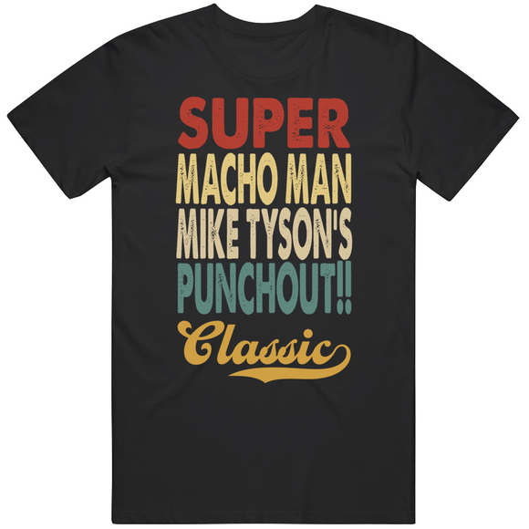 Super Macho Man Punchout Classic Boxing Retro Video Game T Shirt