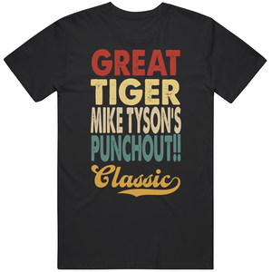 Great Tiger Mike Tyson's Punchout Classic Boxing Retro Video Game T Shirt