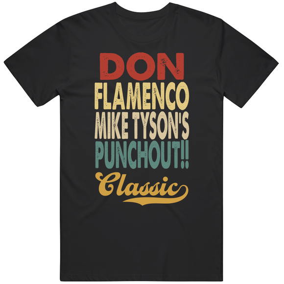 Don Flamenco Punchout Classic Boxing Retro Video Game T Shirt