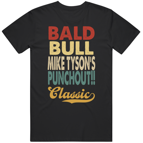Bald Bull Mike Tyson's Punchout Classic Boxing Retro Video Game T Shirt