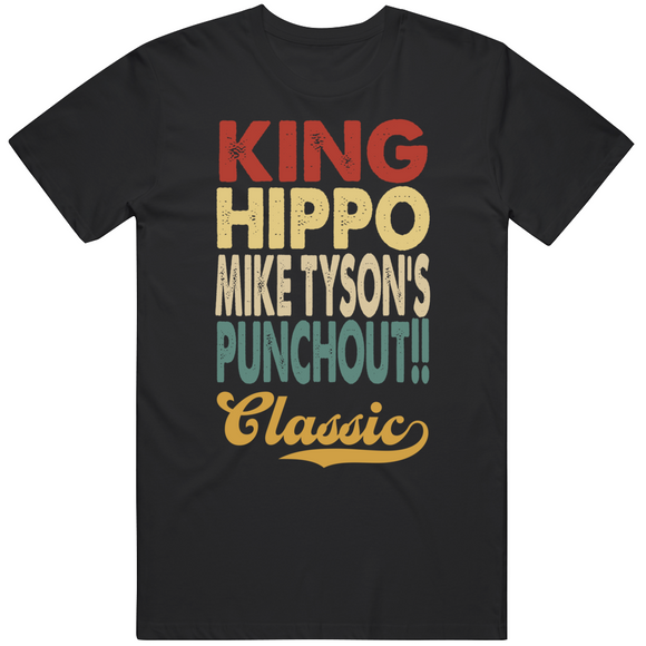 King Hippo Punchout Classic Boxing Retro Video Game T Shirt