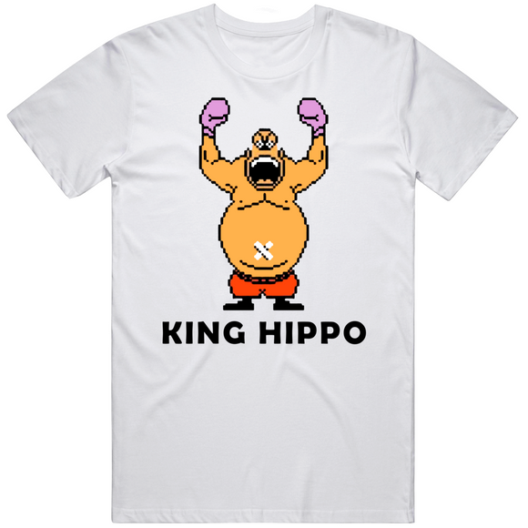 King Hippo Arms Raised Punchout Retro Video Game Boxing T Shirt