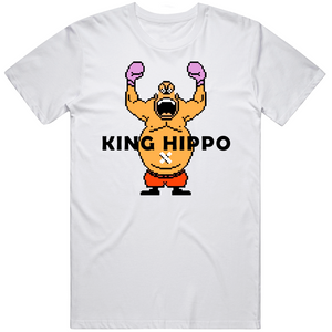 King Hippo Arms Raised Mike Tyson's Punchout Retro Video Game Boxing V2 T Shirt