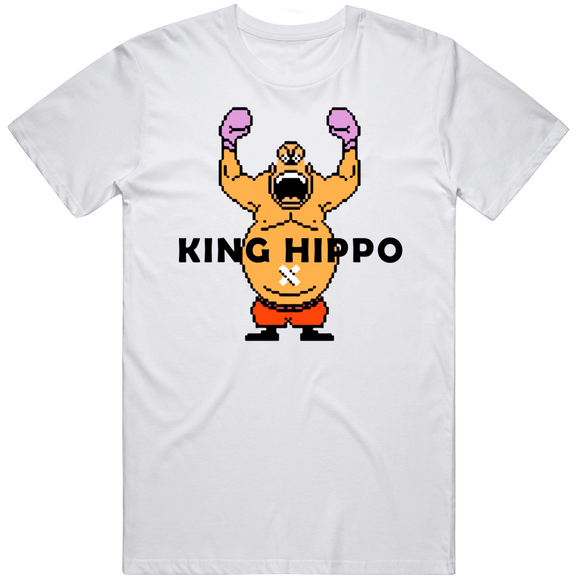 King Hippo Arms Raised Punchout Retro Video Game Boxing V2 T Shirt