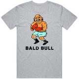 Bald Bull Stance Punchout Retro Video Game Boxing Distressed T Shirt