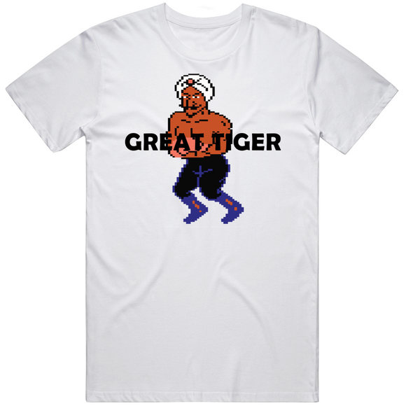 Great Tiger Stance Punchout Retro Video Game Boxing V2 T Shirt