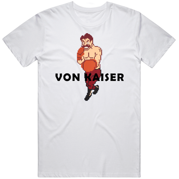 Von Kaiser Stance Mike Tyson's Punchout Retro Video Game Boxing V2 T Shirt